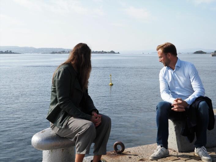 Medgründer Catharina Frostad i Clean Sea Solutions vil rense norske havner og skjærgård for søppel. Moderniseringsminister Nikolai Astrup tror Startoff-ordningen kan hjelpe med å nå målet.
