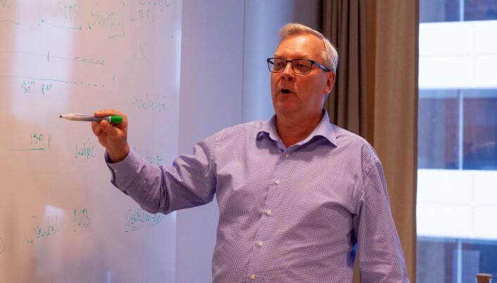 Administrende direktør Lars Sjögren i P27, tegner opp hvordan ser for seg det fremtidige nordiske betalingslandskapet