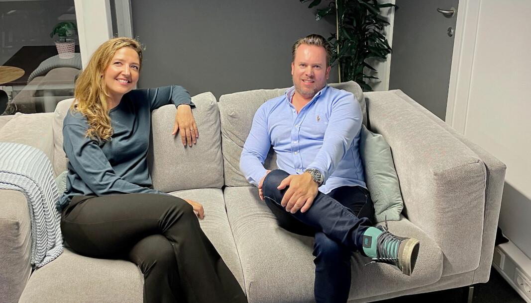 CEO Sara Kjelstrup og COO Stian Elgaaen i Laft.io.
