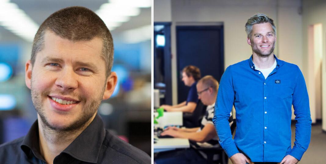 Jostein Emmerhoff og Nicolai Høge i Finn teknologi.