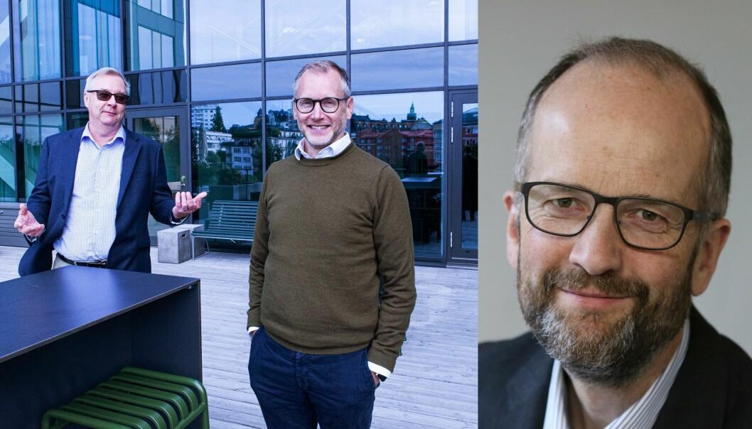 Bits-sjef Eivind Gjemdal, til høyre, er fortsatt avventende til invittene fra P27s Lars Sjögren og Martin Georgzén, og holder fast ved at Norge, i hvert fall foreløpig, går sin egen vei.