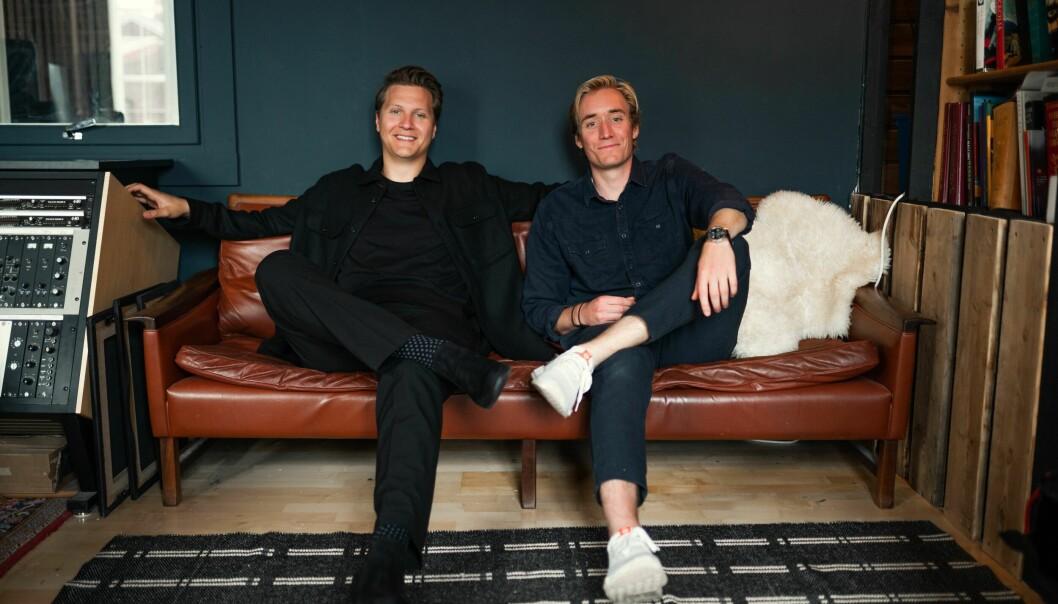Medgründerne Tom Stræte Lagergren, best kjent som Matoma, og CEO og medgründer Christian Ringstad Schult i Masterchannel.