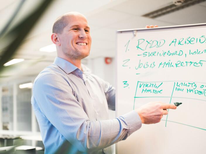 Kim Leinan, daglig leder i Futureworks, er glad flere og flere bedrifter får øynene opp for OKR som et verktøy for målstyring.