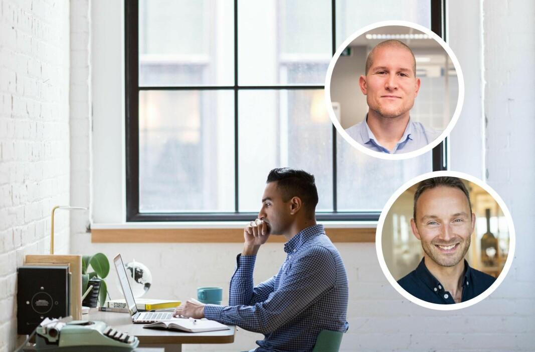 Kim Leinan i Futureworks og Marius Olsen i Videocation samarbeider om å lære flere norske bedrifter om OKR i praksis.