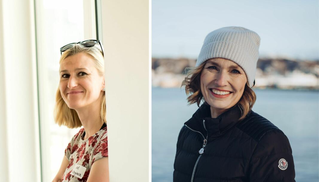 Ane Nordahl fra familiekontoret Grafo og Aino Kristin Olaisen, majoritetseier og styreleder i Nord-Norges største oppdretter Nova Sea.