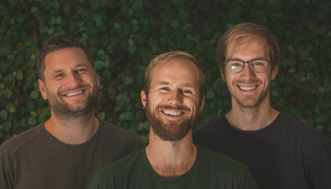 Erling Magnus Solheim, Kristoffer Hagen og Stian Weie utgjør gründerteamet i Playpulse.