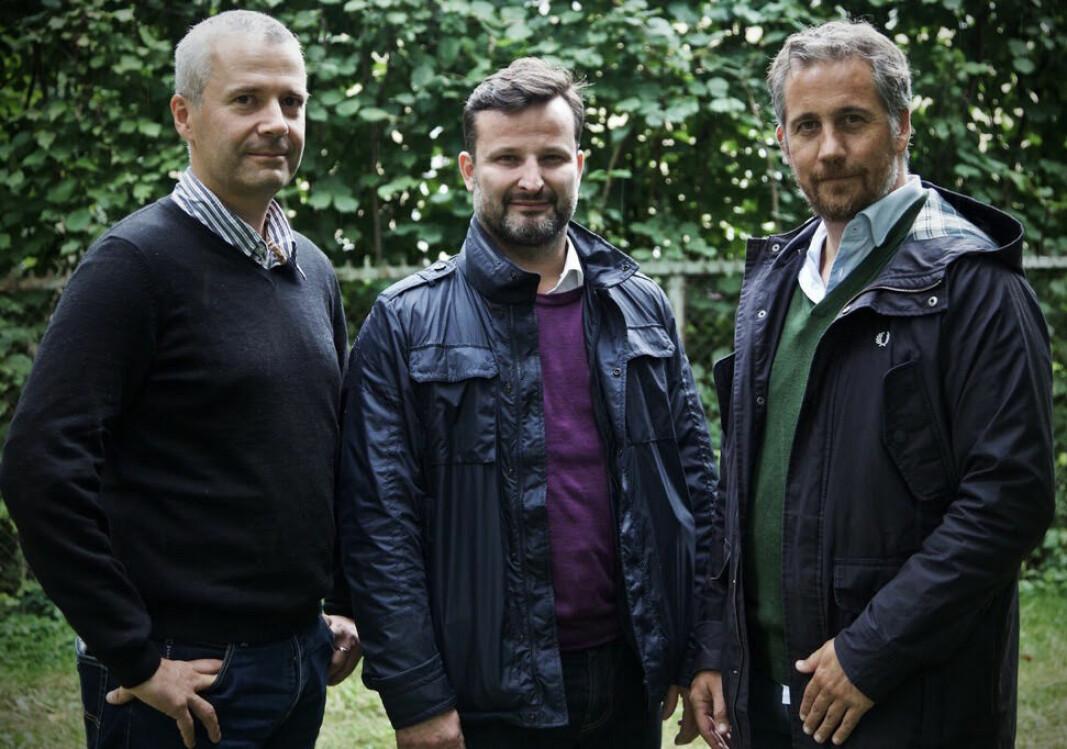 Gunnar Sellæg (t.v.), Are Traasdahl og Jostein Pettersen i Spring Capital Polaris.
