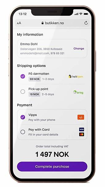 Vipps Checkout vil til å begynne med være en ganske så enkel checkout-løsning