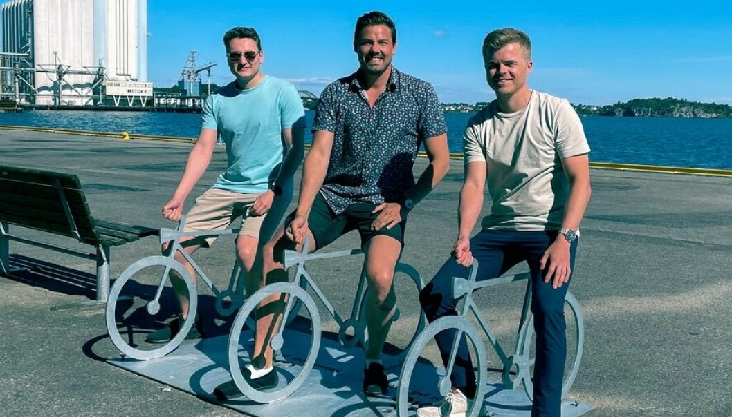 Gründerne (fra venstre) Eirik Jørgensen (er ikke lenger med i selskapet), Ole Martin Ølmheim og Filip Nag