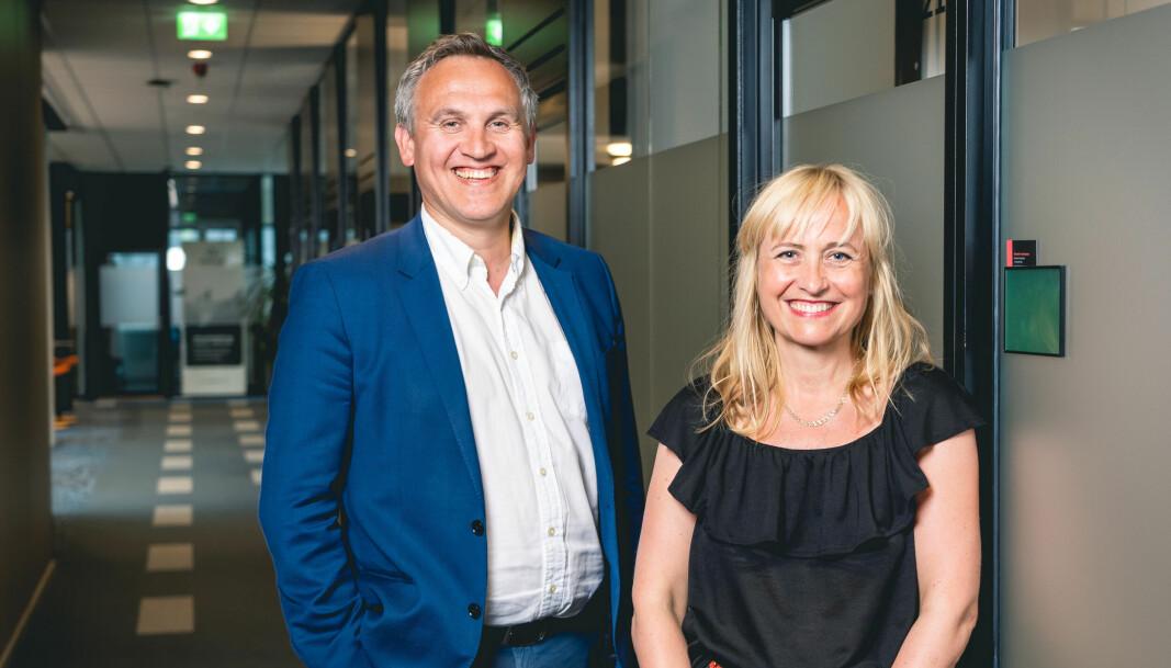 Administrerende direktør i Norinnova Asbjørn Lilletun og markedssjef Therese Lein
