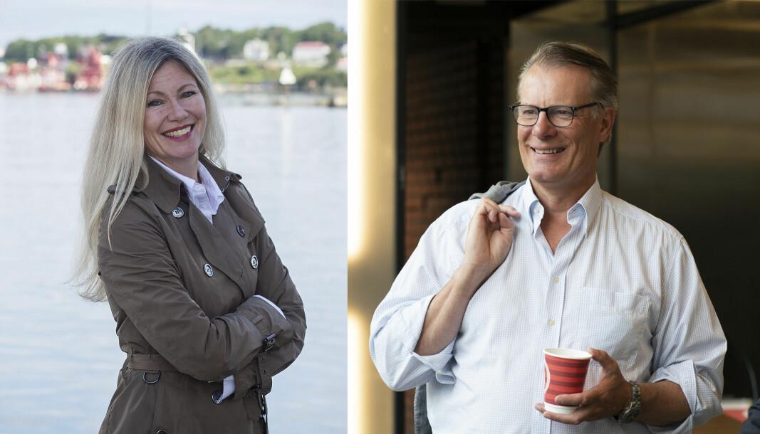 Nysnø-sjef Siri Kalvig og Ferd-eier Johan Andresen putter begge penger i europeisk bærekraftsfond.