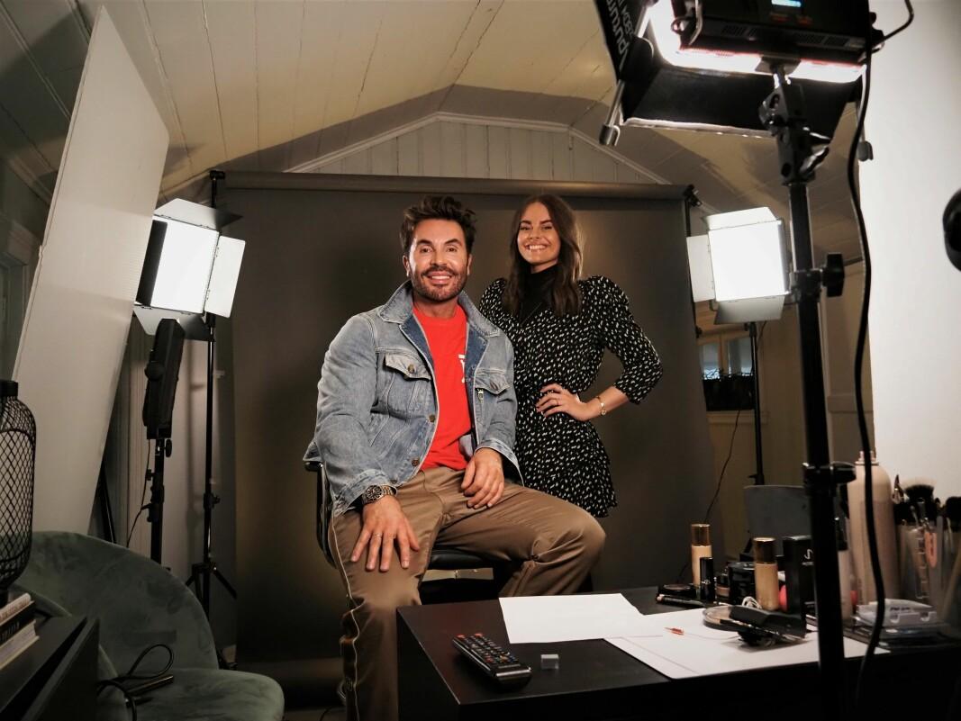 Jan Thomas og Oda Johanne Rød jobber sammen om førstevntes digitale tvilling, JT Diva.