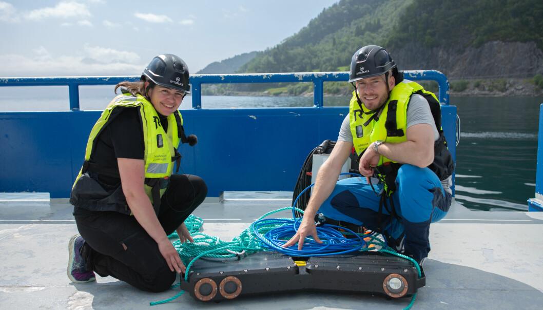 CTO Ragnhild Hollup og CEO Sven Kolstø i OptoScale.