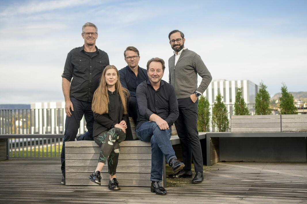 Runway-teamet f.v. Tor Bækkelund, Thea Wiig, styreleder Martin Bech Holte, Kjell Inge Røkke og Sagar Chandna.
